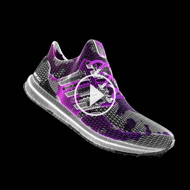 Färdiga hologram gymnastikskor till hologram fläkt Smart 3D Holo