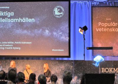 Hologram på populärvetenskap scenen event Smart 3D Holo hologramfläkt