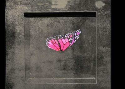 Hologram hängande fjäril Smart 3D Holo. Hologram fläkt