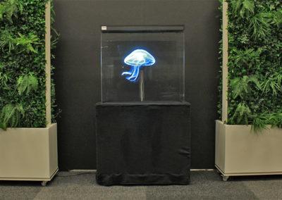 Blå manet hologram som utsmyckning event Smart 3d Holo hologramfläkt