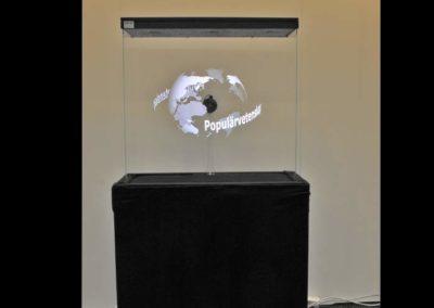 Hologram VIt jordglob Smart 3D Holo. Hologram fläkt